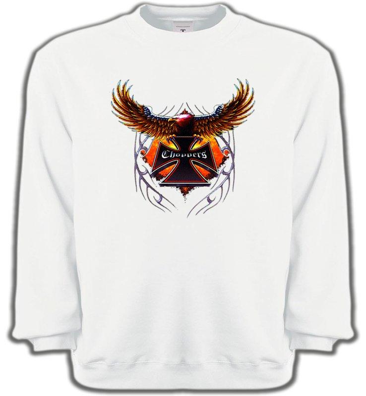 Sweatshirts UnisexeTribal Métal CeltiqueCroix choppers et ailes (Bikers)