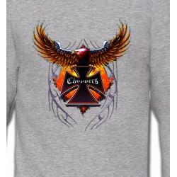 Sweatshirts Véhicule Croix choppers et ailes (Bikers)