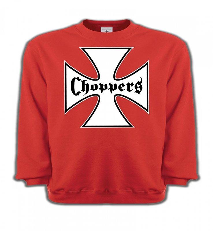 Sweatshirts EnfantsTribal Métal CeltiqueCroix Choppers blanche (Bikers)