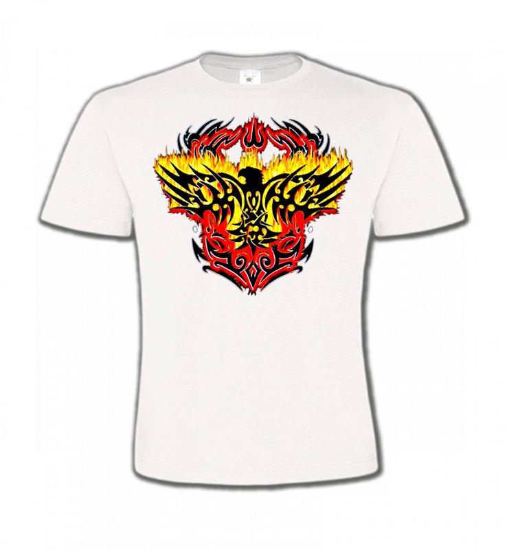 T-Shirts Col Rond EnfantsAiglesAigle tribal aigle flamme