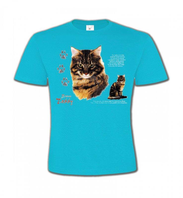 T-Shirts Col Rond EnfantsRaces de chatsChat tigré brun (Q)