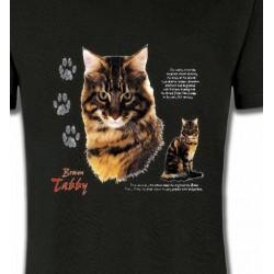 T-Shirts T-Shirts Col Rond Enfants Chat tigré brun (Q)