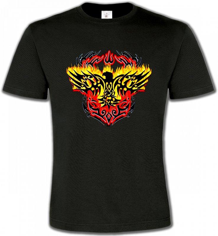 T-Shirts Col Rond UnisexeAiglesAigle tribal aigle flamme