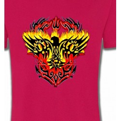 T-Shirts Tribal Métal Celtique Aigle tribal aigle flamme