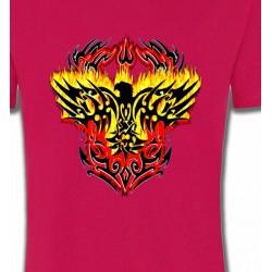 T-Shirts Oiseaux Aigle tribal aigle flamme