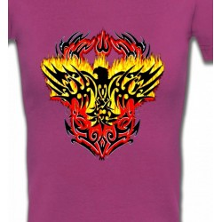 T-Shirts Aigles Aigle tribal aigle flamme