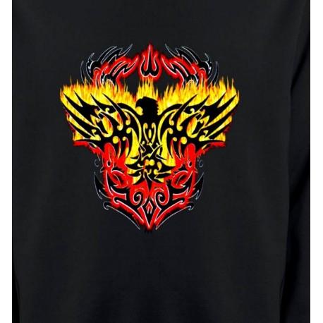 Aigle tribal aigle flamme