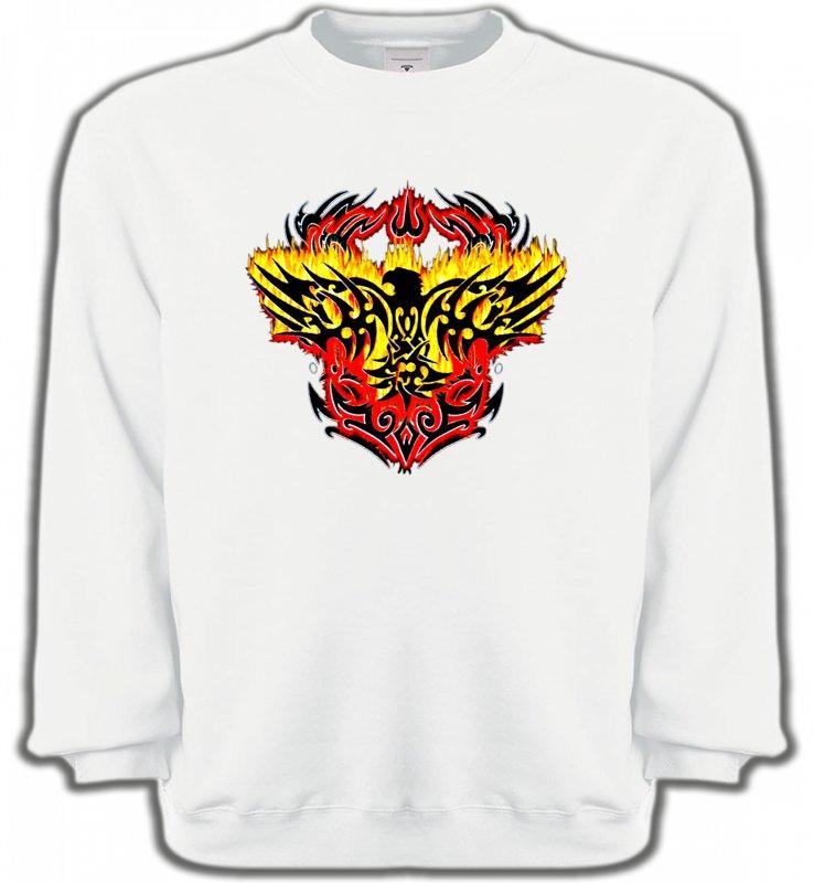 Sweatshirts UnisexeAiglesAigle tribal aigle flamme