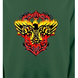 Sweatshirts Véhicule Aigle tribal aigle flamme