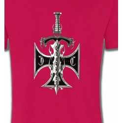 T-Shirts Tribal Métal Celtique Dague et croix choppers (A3)