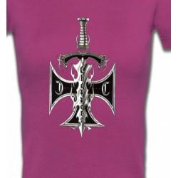 T-Shirts Véhicule Dague et croix choppers (A3)