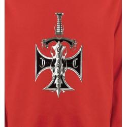 Sweatshirts Véhicule Dague et croix choppers (A3)
