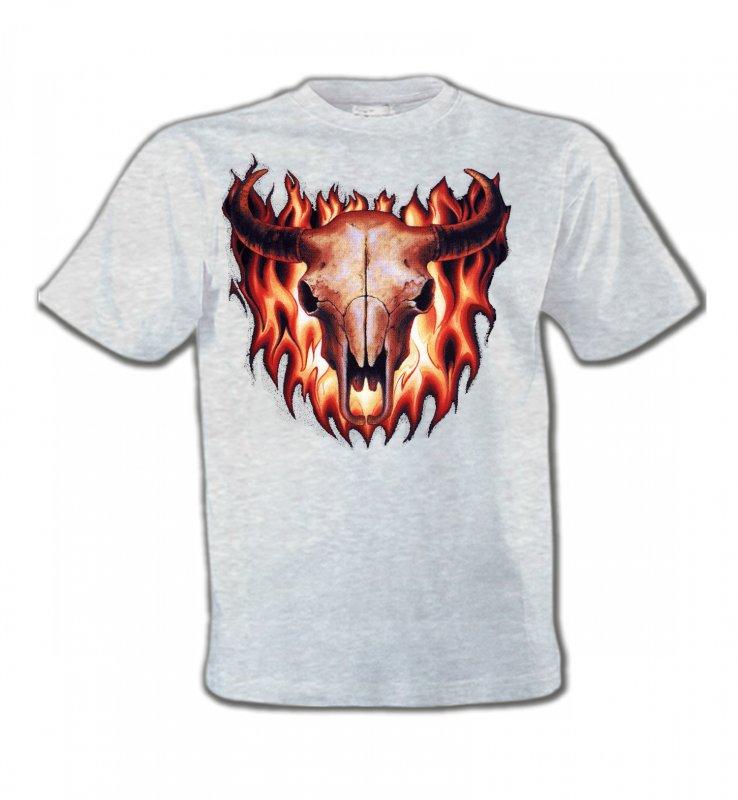 T-Shirts Col Rond EnfantsIndien et AmérindiensCrâne de taureau (V)