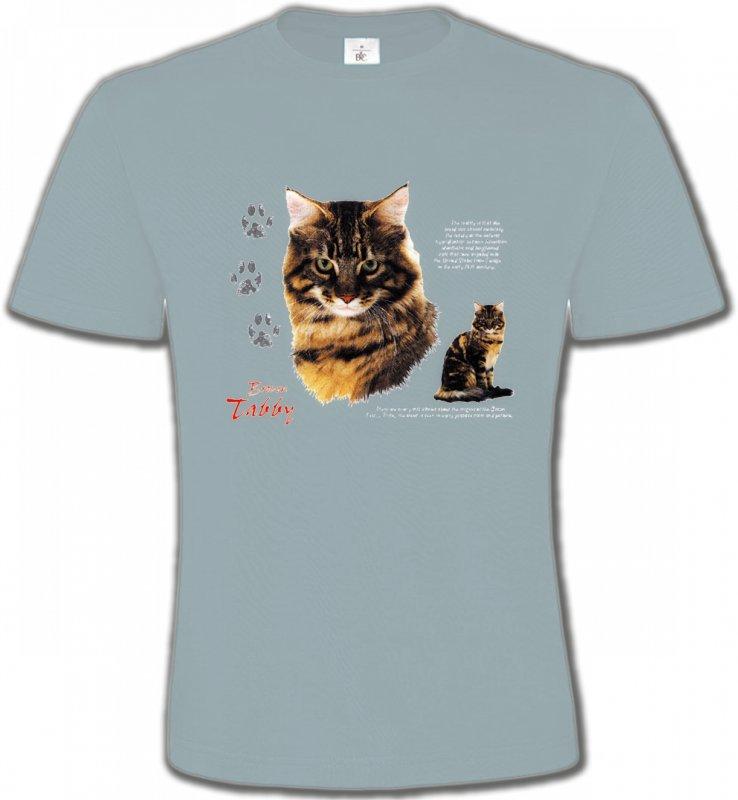 T-Shirts Col Rond UnisexeRaces de chatsChat tigré brun (Q)