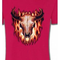 T-Shirts Indien et Amérindiens Crâne de taureau (V)