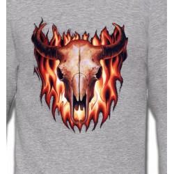 Sweatshirts Véhicule Crâne de taureau (V)