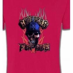 T-Shirts Véhicule Crâne Chopper
