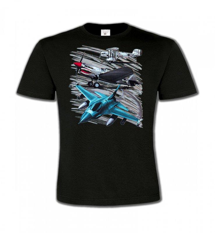 T-Shirts Col Rond EnfantsAvionsAvions