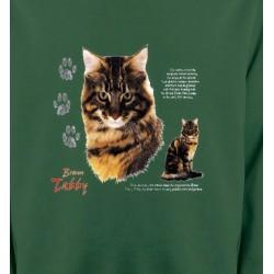 Sweatshirts Sweatshirts Unisexe Chat tigré brun (Q)