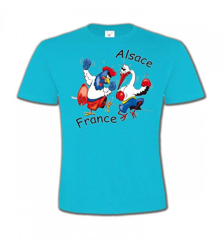 T-Shirts Col Rond EnfantsHumour/amourcoq France  cigogne Alsace