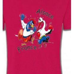 T-Shirts Alsace  souvenir coq France  cigogne Alsace