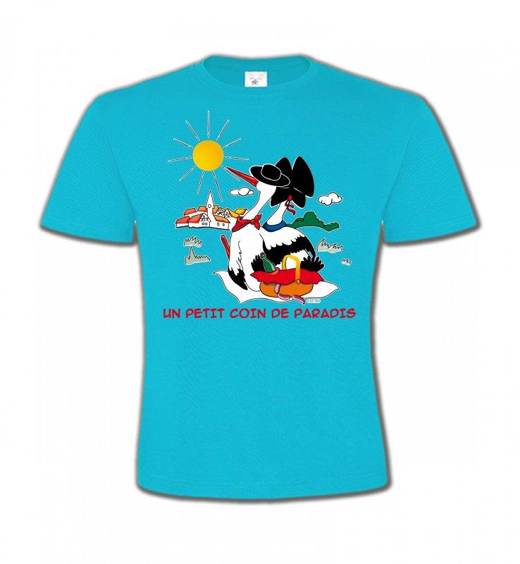T-Shirts Col Rond EnfantsAlsace  souvenirT-Shirt Un petit coin de paradis Alsace