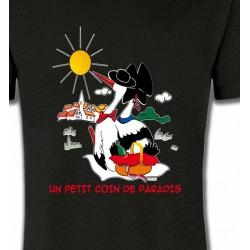 T-Shirts Alsace  souvenir T-Shirt Un petit coin de paradis Alsace