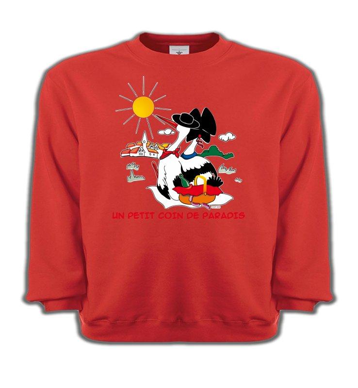 Sweatshirts EnfantsAlsace  souvenirT-Shirt Un petit coin de paradis Alsace