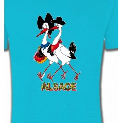 T-Shirts Alsace  souvenir Couple De Cigogne