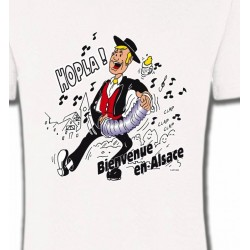 T-Shirts Alsace  souvenir Hopla Bienvenue en Alsace