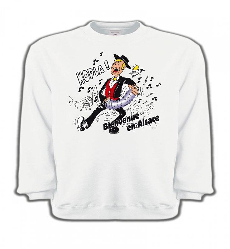 Sweatshirts EnfantsAlsace  souvenirHopla Bienvenue en Alsace