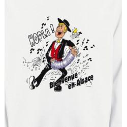 Sweatshirts Alsace  souvenir Hopla Bienvenue en Alsace