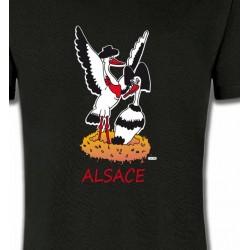 T-Shirts Alsace  souvenir Nid de Cigogne