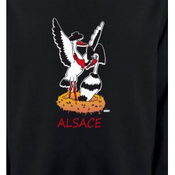 Sweatshirts Alsace  souvenir Nid de Cigogne
