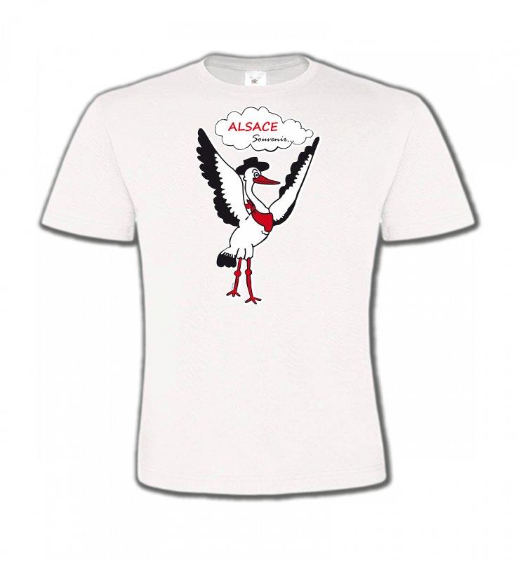 T-Shirts Col Rond EnfantsAlsace  souvenirCigogne Alsace Souvenirs