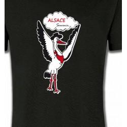 T-Shirts Alsace  souvenir Cigogne Alsace Souvenirs