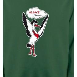 Sweatshirts Alsace  souvenir Cigogne Alsace Souvenirs