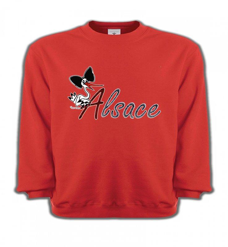 Sweatshirts EnfantsAlsace  souvenirCigogne à la coiffe Alsacienne