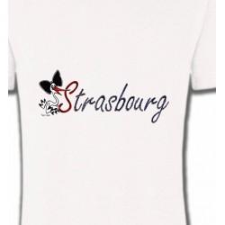 T-Shirts Alsace  souvenir Strasbourg et Cigogne