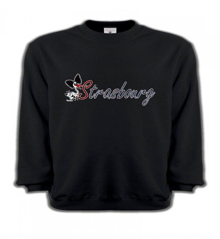 Sweatshirts EnfantsAlsace  souvenirStrasbourg et Cigogne