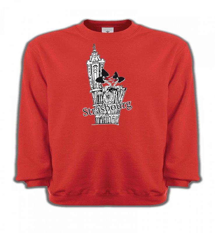 Sweatshirts EnfantsAlsace  souvenirT-Shirt Cathédrale de Strasbourg avec cigognes
