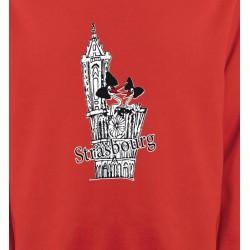 Sweatshirts Alsace  souvenir T-Shirt Cathédrale de Strasbourg avec cigognes