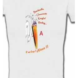 T-Shirts Humour/amour Cigogne fêtarde gourmande