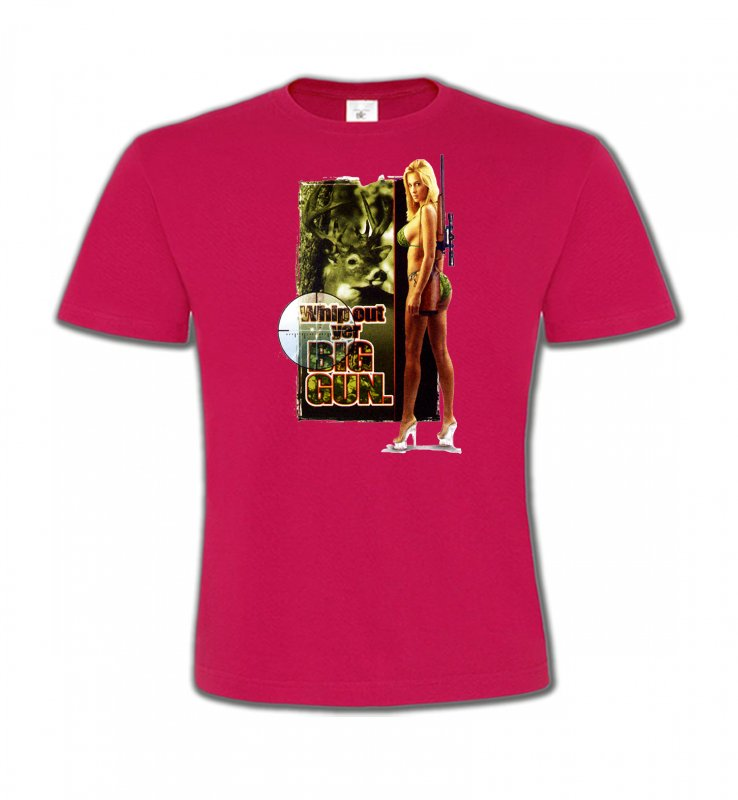 T-Shirts Col Rond EnfantsChasseBig Gun (R)