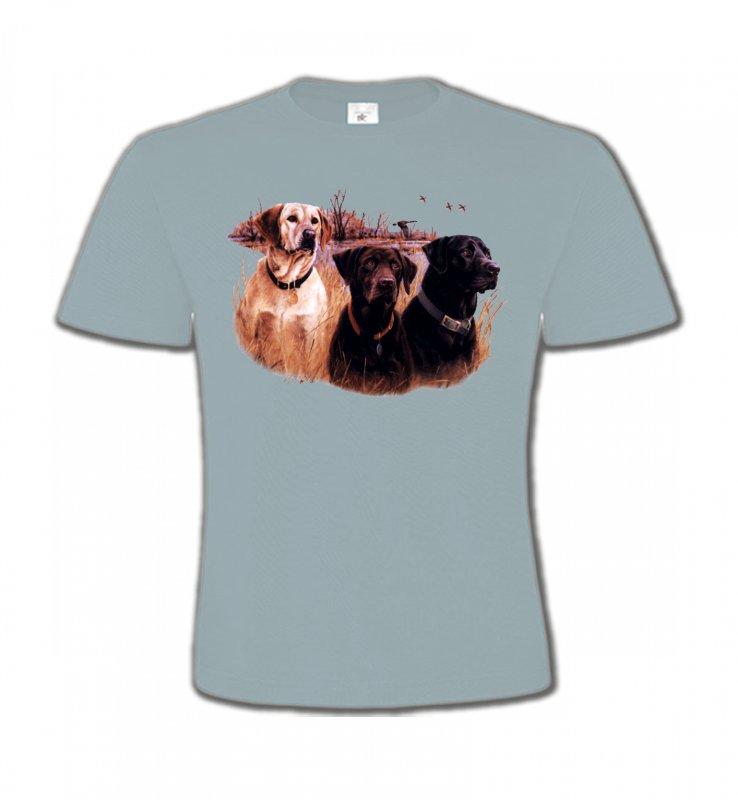 T-Shirts Col Rond EnfantsChasseTrois chiens de chasse
