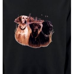 Sweatshirts Chasse et Pêche Trois chiens de chasse