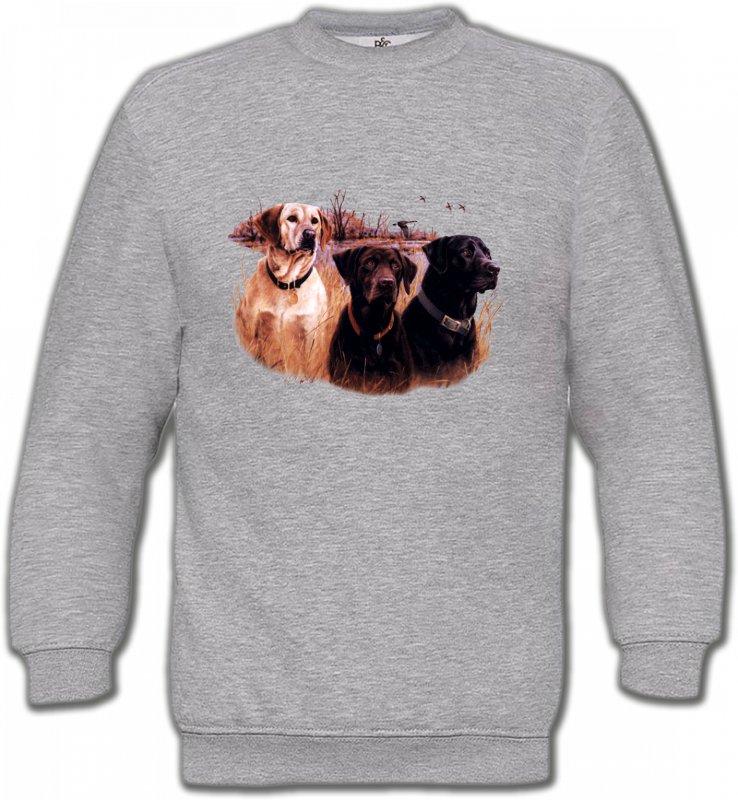 Sweatshirts UnisexeChasseTrois chiens de chasse