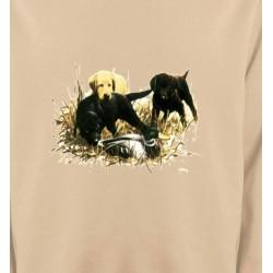 Sweatshirts Chasse et Pêche Labradors qui jouent (Y)