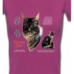 T-Shirts Races de chats Chat Maine Coon gris (M)