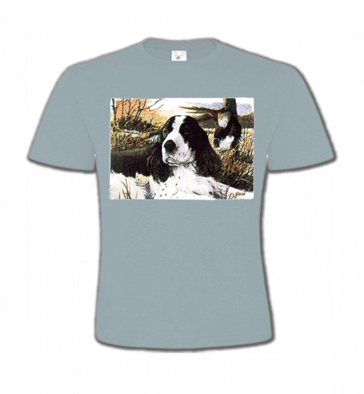T-Shirts Col Rond EnfantsCockerCocker dans l'herbe (M)
